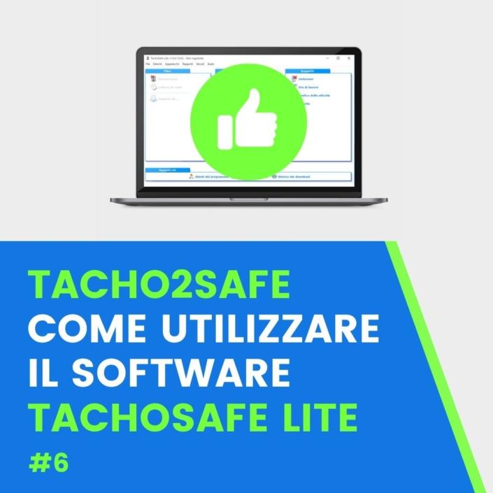 Utilizzo software TachoSafeLite